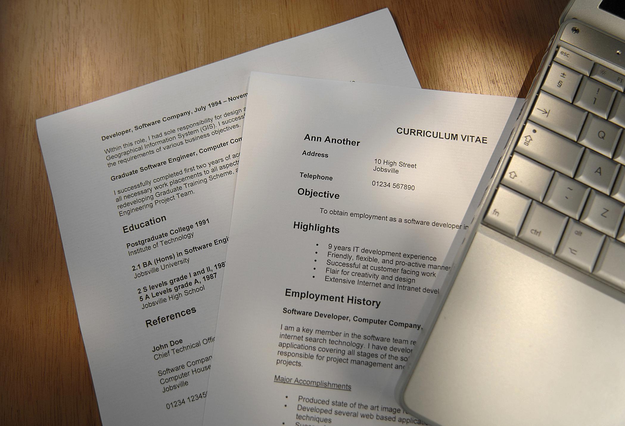 Academic CV Samples and Writing Tips