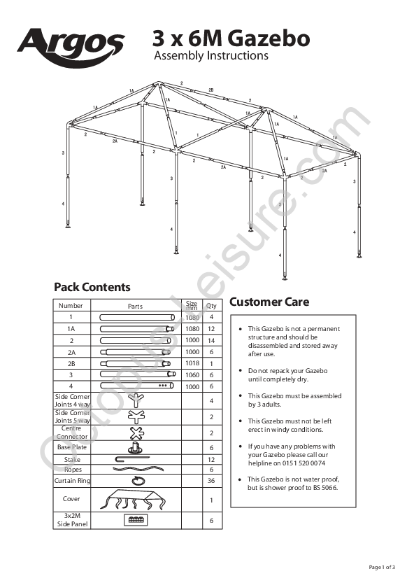 3x6M Party Gazebo, Octopus Leisure   Dress and cloches patterns ...