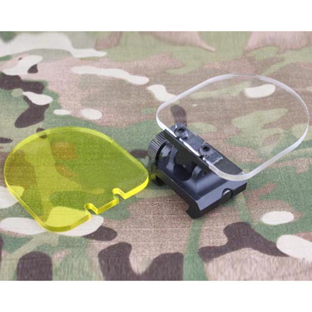 Riflescope Lens Protector Airsoft Red Dot Sight Scope Transparent Lens Protector