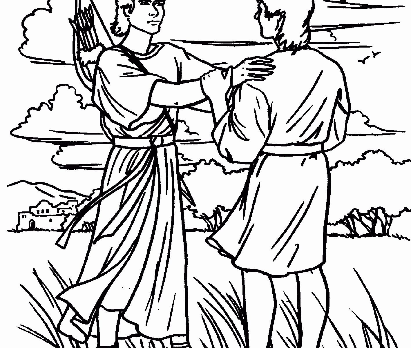 David And Jonathan Coloring Page Lovely Creative Picture Of David And Jonathan Coloring Page David And Jonathan Coloring Pages David And Jonathan Friendship