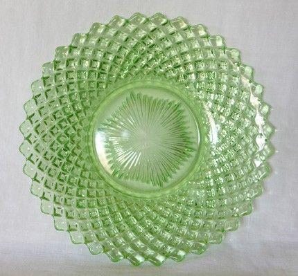Green depression glass makes me happy.