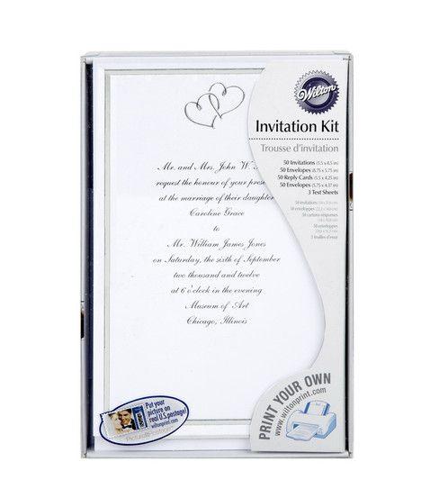 wilton wedding invitation kit sweet hearts silver - Wilton Wedding Invitation Kits