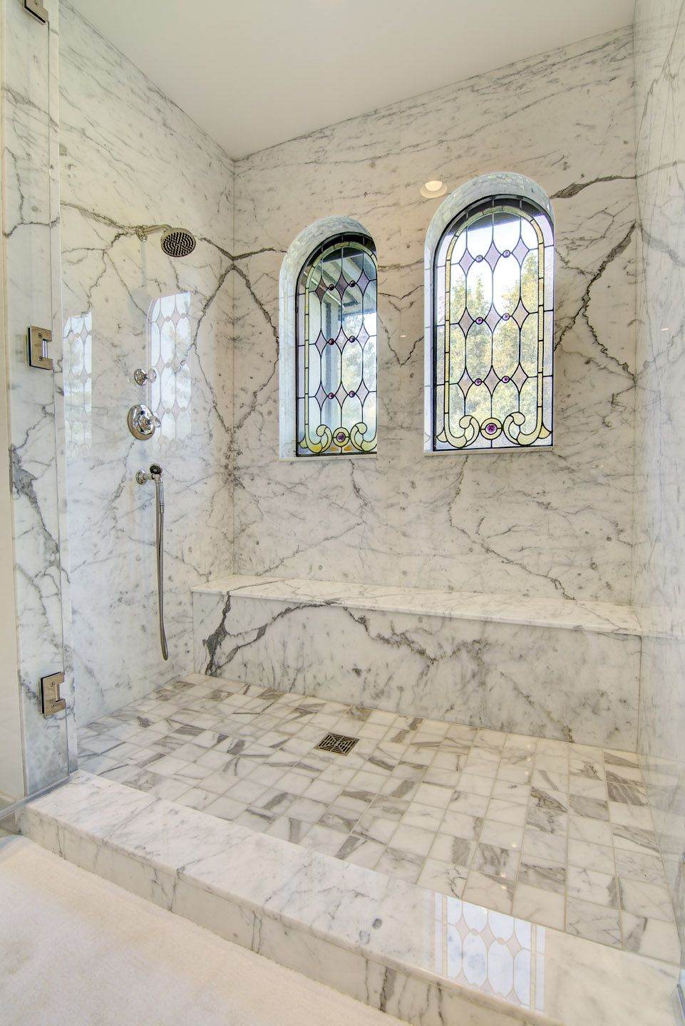 Carrera Marble Shower Surround Seat Dam Shower Walls Pinterest Marbles Bath And