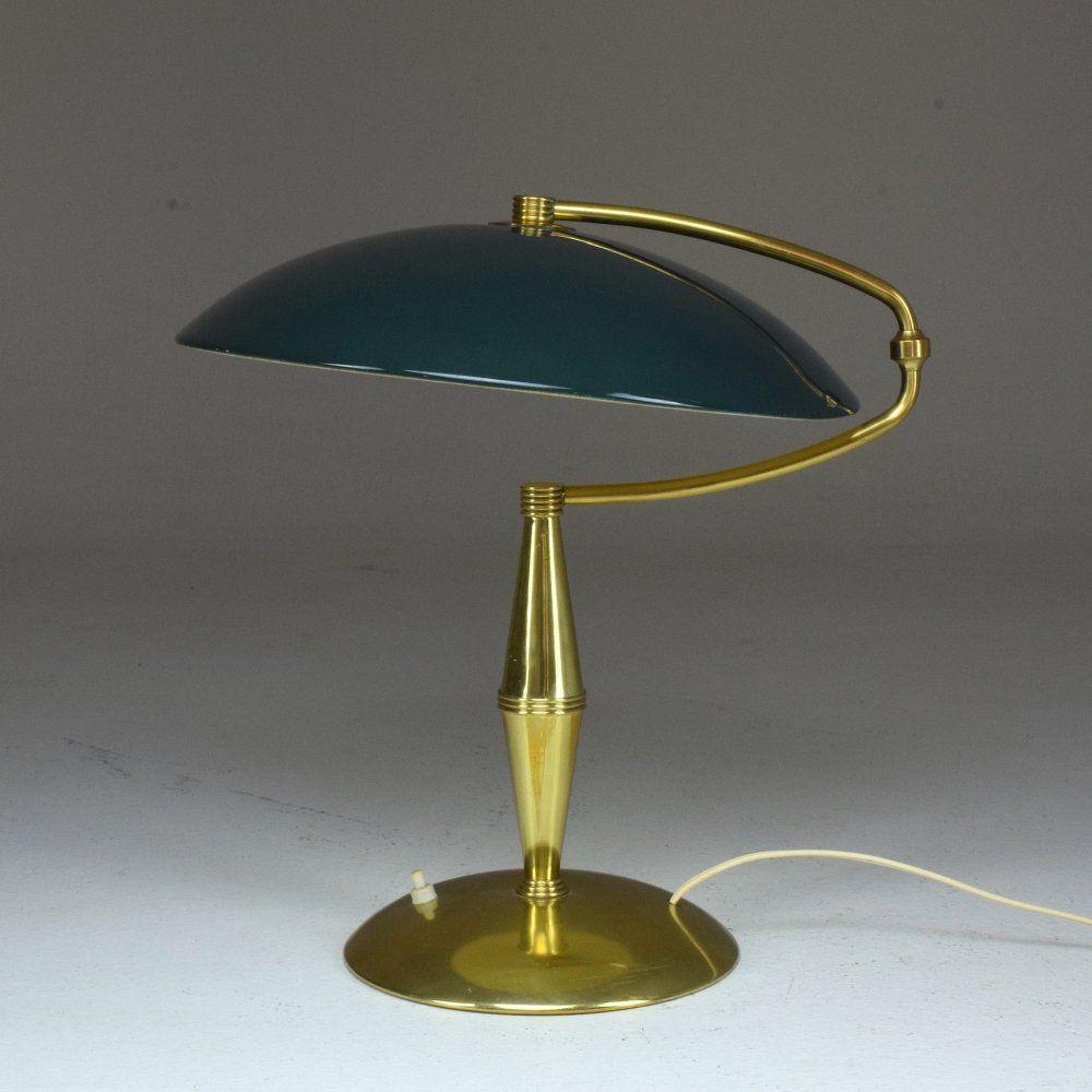 For Sale Italian Mid Century Arredoluce Brass Table Lamp 1950 S In 2020 Table Lamp Brass Table Lamp