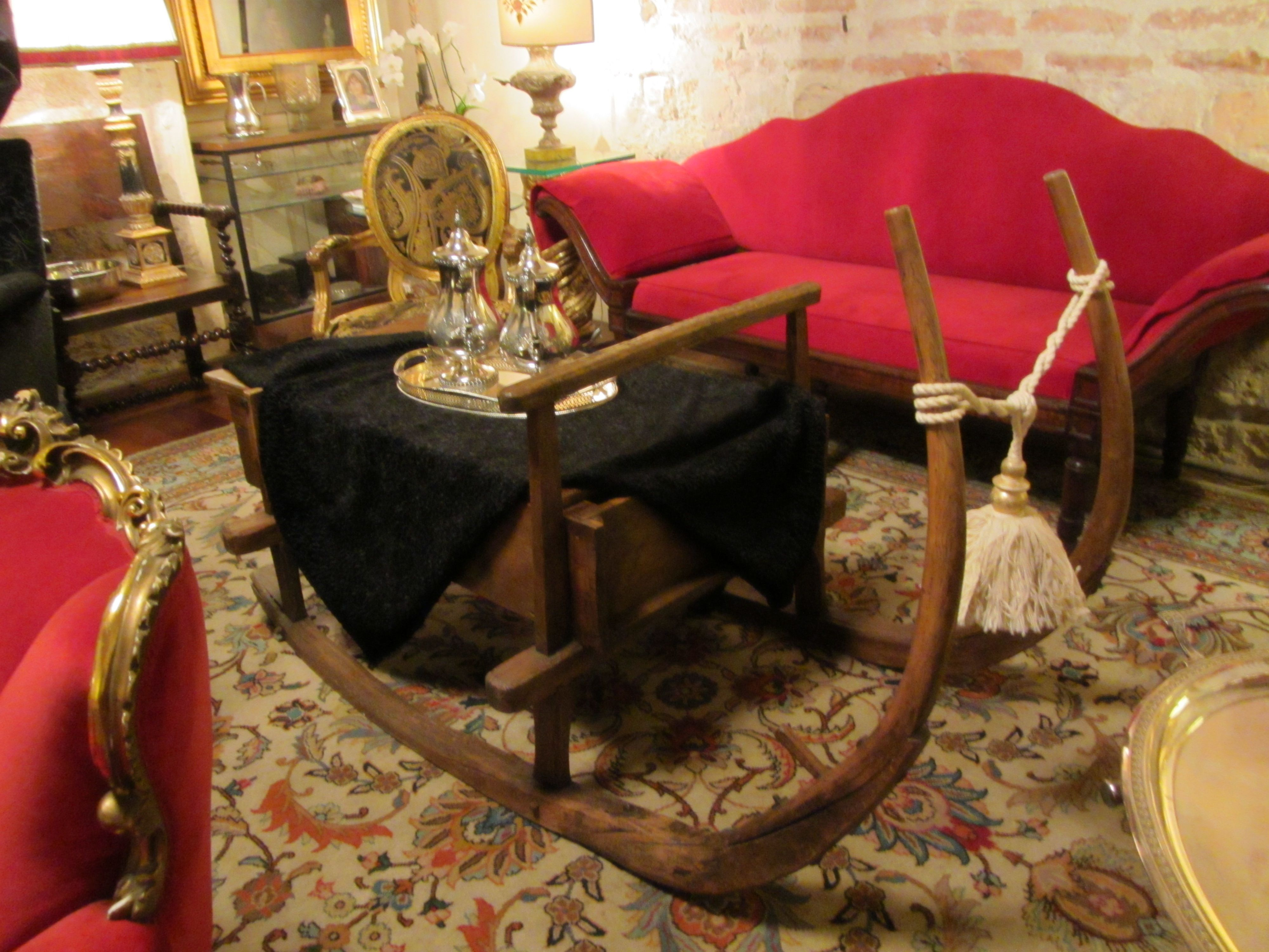 Antique sleigh coffee table tables pinterest antique sleigh coffee table geotapseo Image collections