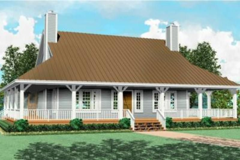 Farmhouse Style House Plan - 3 Beds 2.5 Baths 2200 Sq/Ft Plan #81-495 Exterior - Front Elevation - Houseplans.com