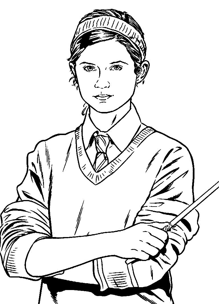 harry potter coloring page | coloring pages of epicness ... - Harry Potter Coloring Pages Ginny