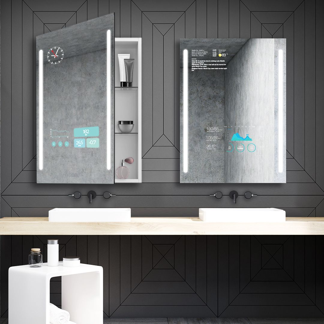 Choose Smart Choose Qaio A Cabinet Mirror Loaded With Features Built For Everyday Life Qaio Smartmirror Cabi Smart Mirror Smart Bathroom Smart Mirror Diy [ 1080 x 1080 Pixel ]
