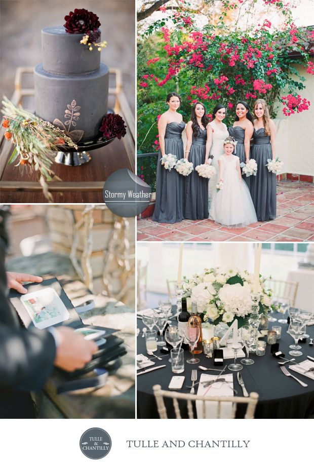 Top 10 pantone inspired fall wedding colors 2015 pinterest dark fall wedding colors dark grey wedding color ideas for fall inspired weddings 2015 junglespirit Images