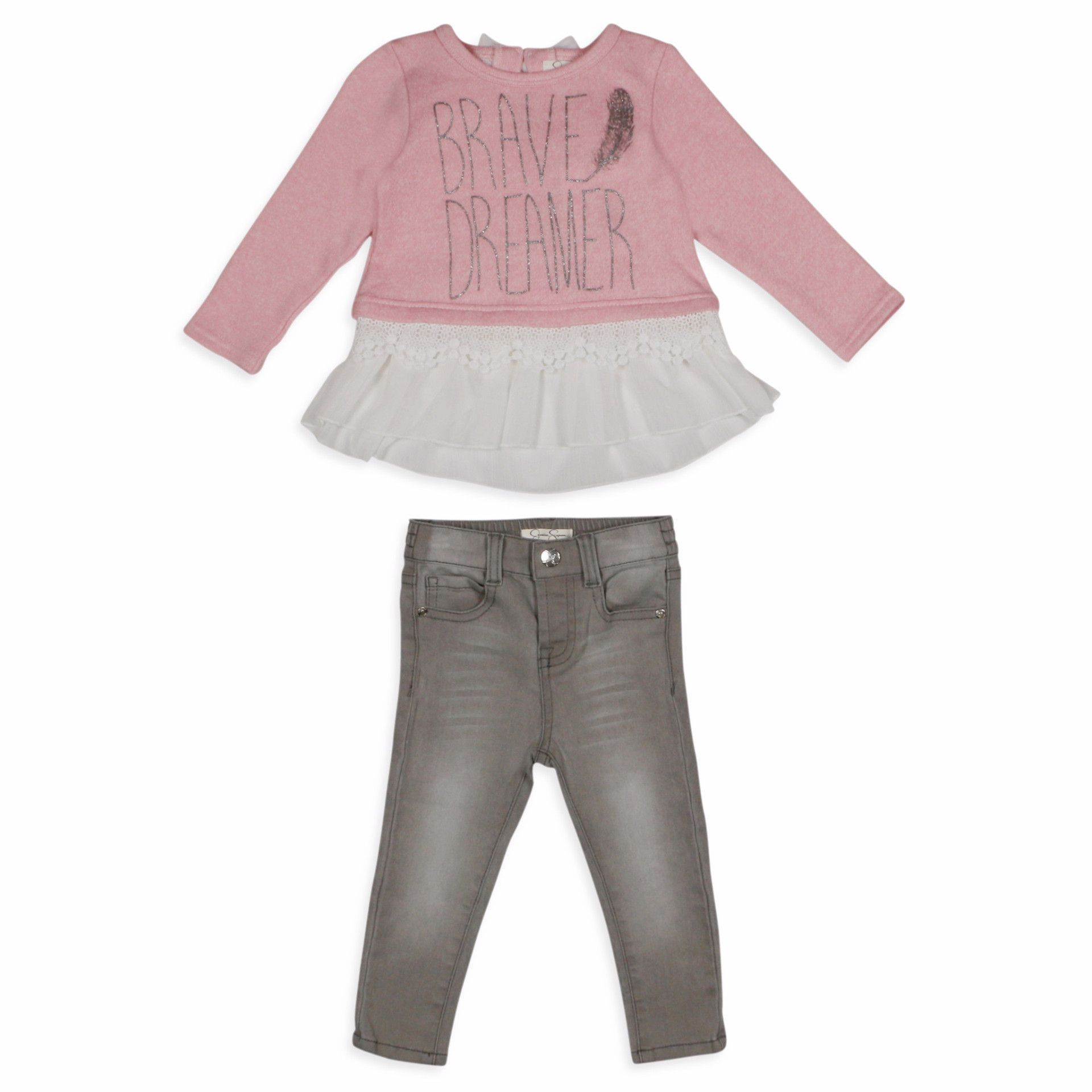 ce0a6e1c8ccfe Jessica Simpson Baby Girls 12-24 Months Brave Dreamer 2 pc Set ...