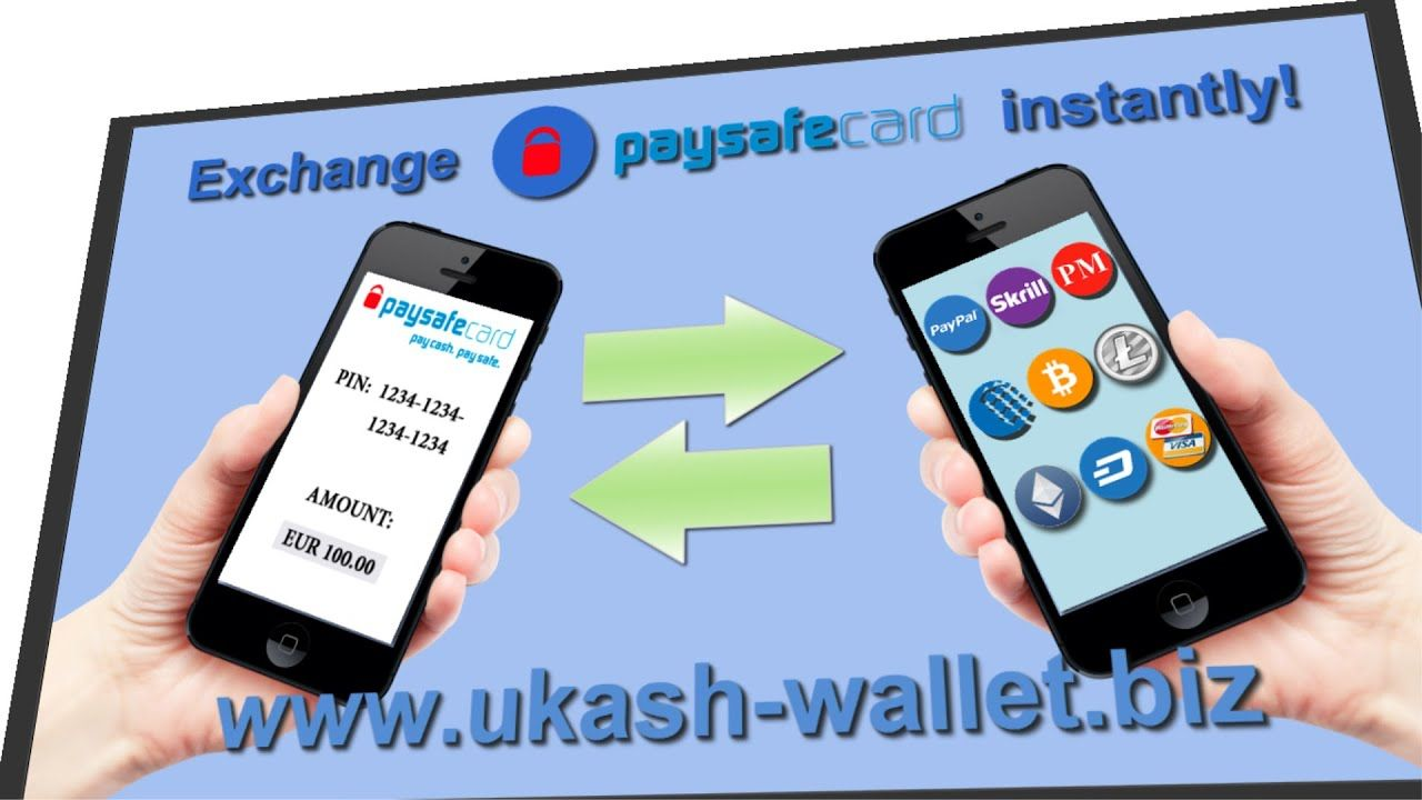 Exchange PaySafeCard for Bitcoins, Ethereum, Skrill, PayPal ...