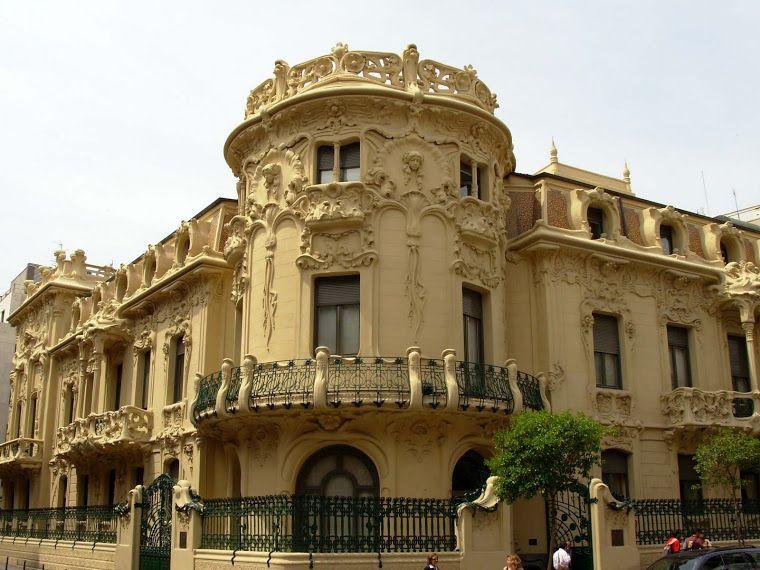 Palacio de Longoria actual sede de la ESGAE modernismo Madrid -