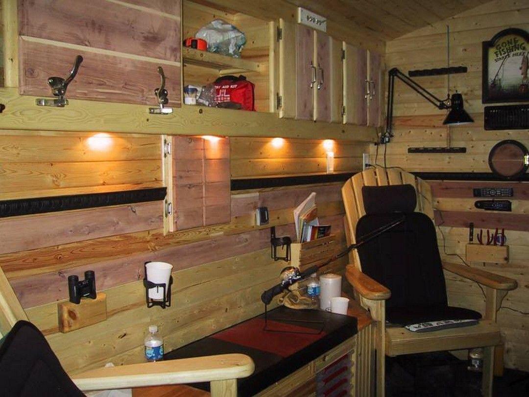 12 Simple Ice Fishing House Organization Ideas Ice Fishing House