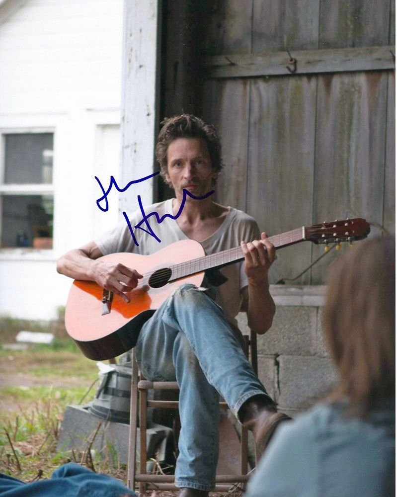 John Hawkes Autographed Signed Guitar Photo UACC RD COA