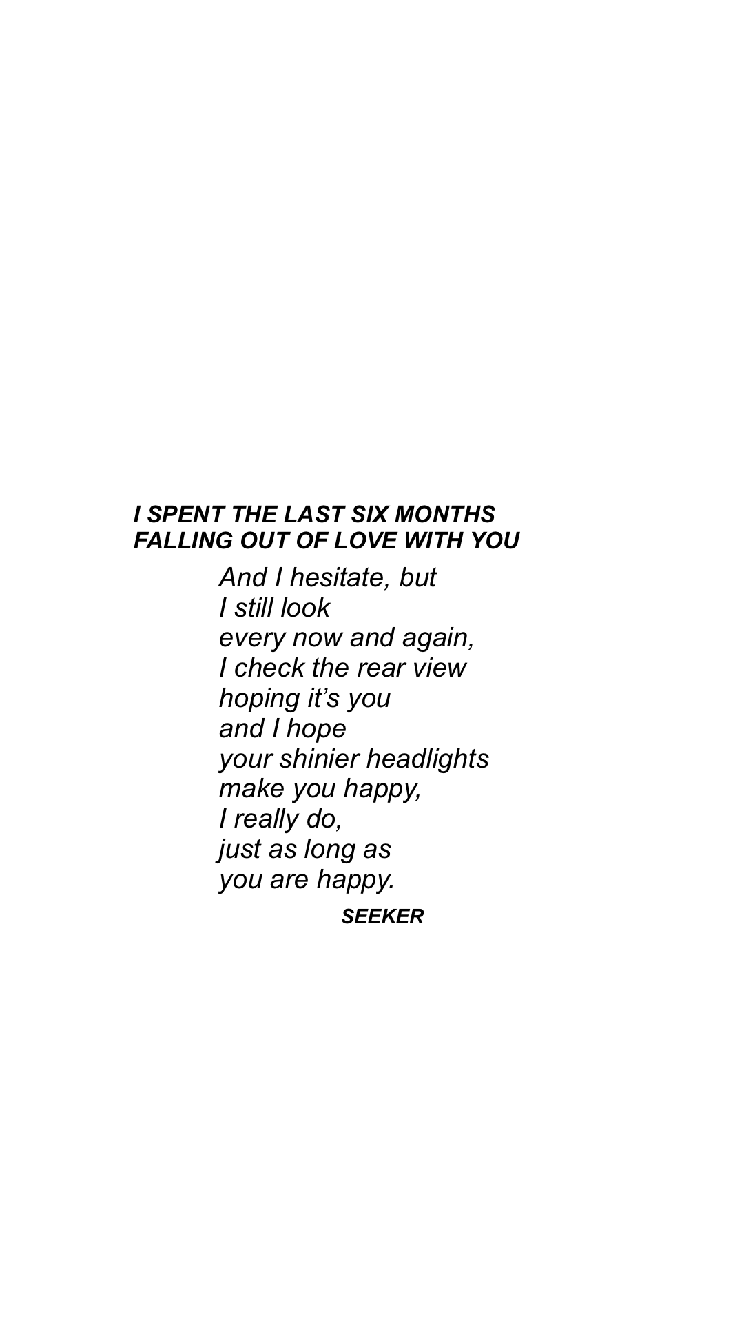 how do you know if you fell out of love