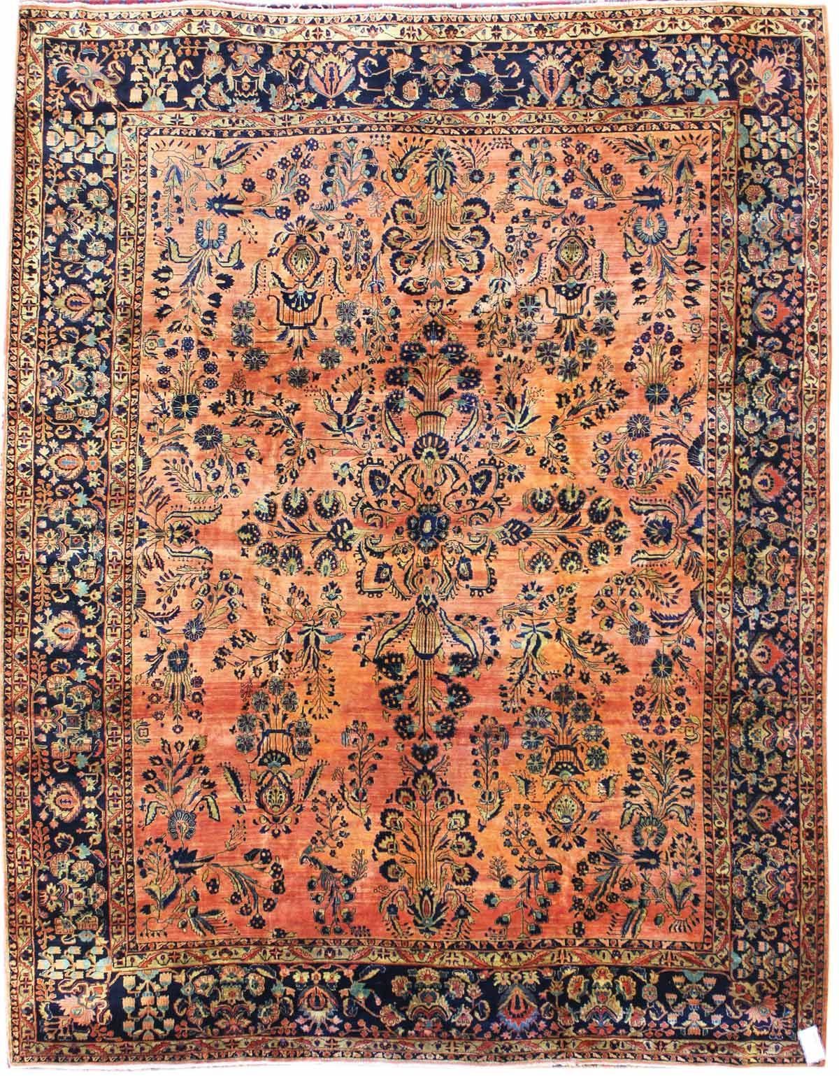 Antique Sarouk Rug Hand Knotted In Persia Circa 1920 Rugs