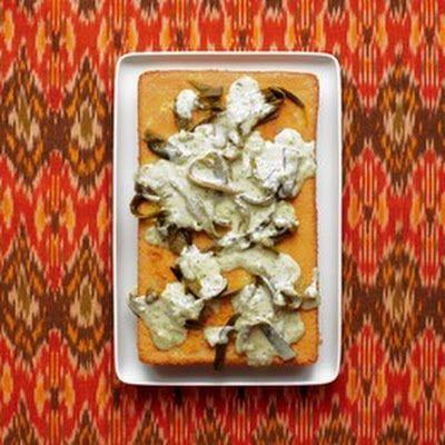 Cornbread With Creamy Poblano Chilies