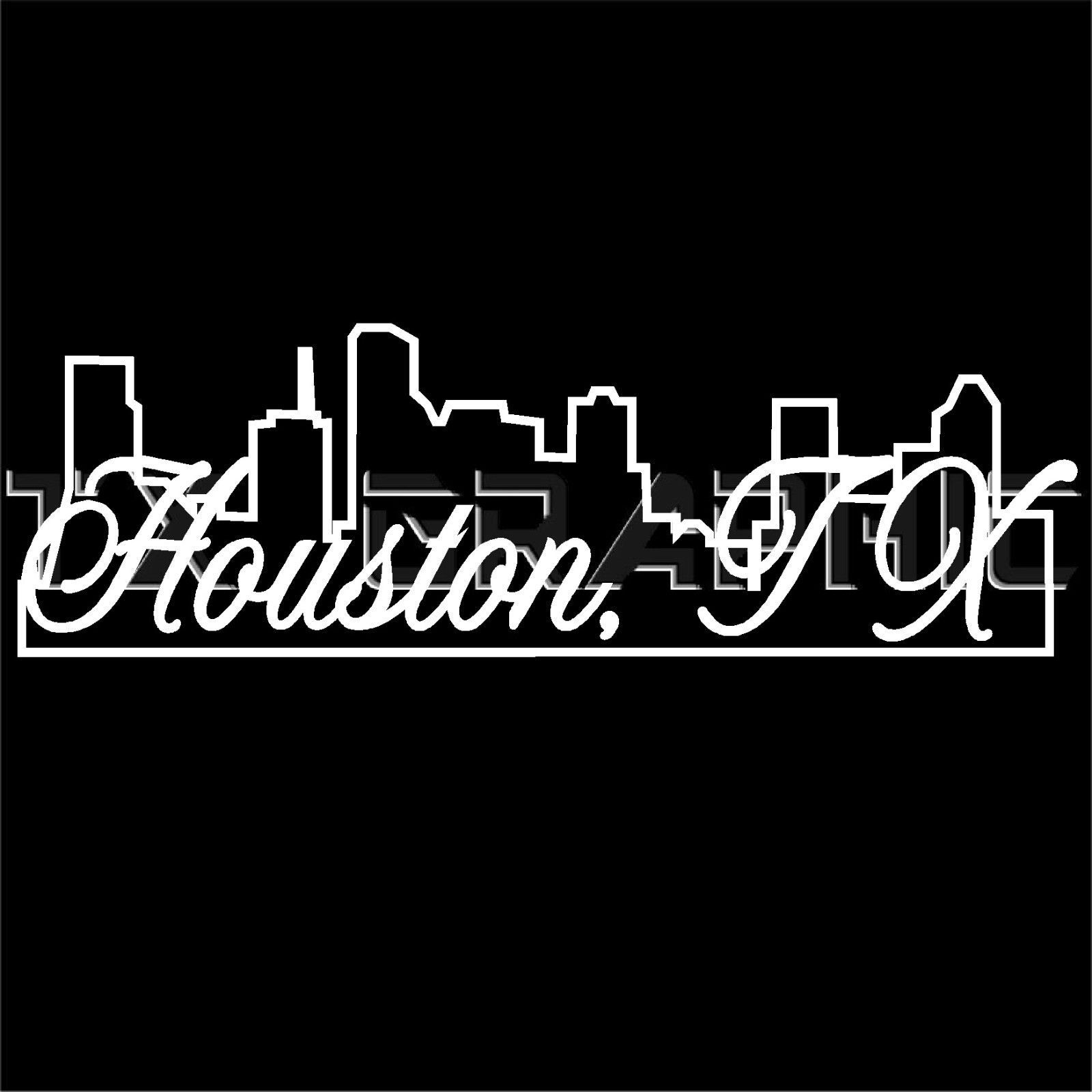 Houston Texas Skyline Decal H Town Houstonian Texans City Sticker Houston Texas Skyline Houstonian Neon Signs