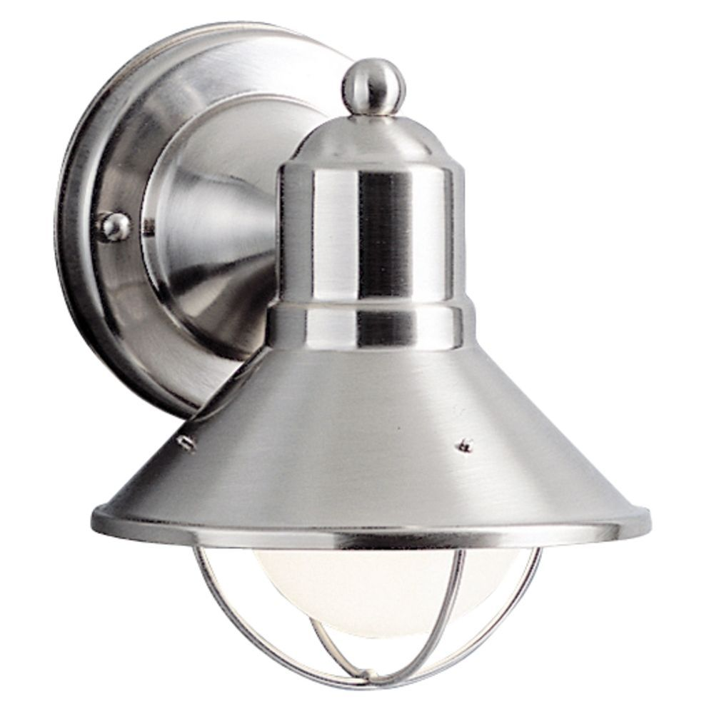 Kichler nautical outdoor wall light in brushed nickel outdoor