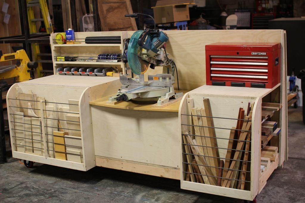 Combo Miter Saw Station Lumber Rack Combo