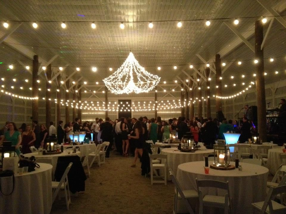 89eb250d133 The lighting was the perfect touch for this formal event.  barnwedding