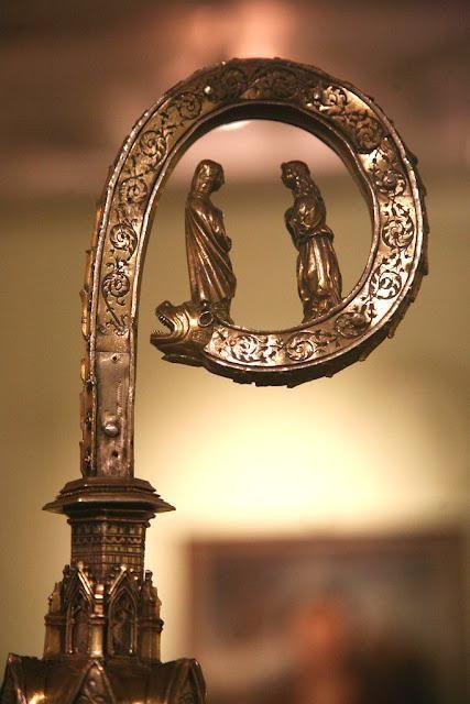 Lanciano, Museo Diocesano: Pastorale in argento del XV secolo, foto tratta dall'ottimo racconto di viaggio http://it.paperblog.com/suggestioni-d-abruzzo-1347717/