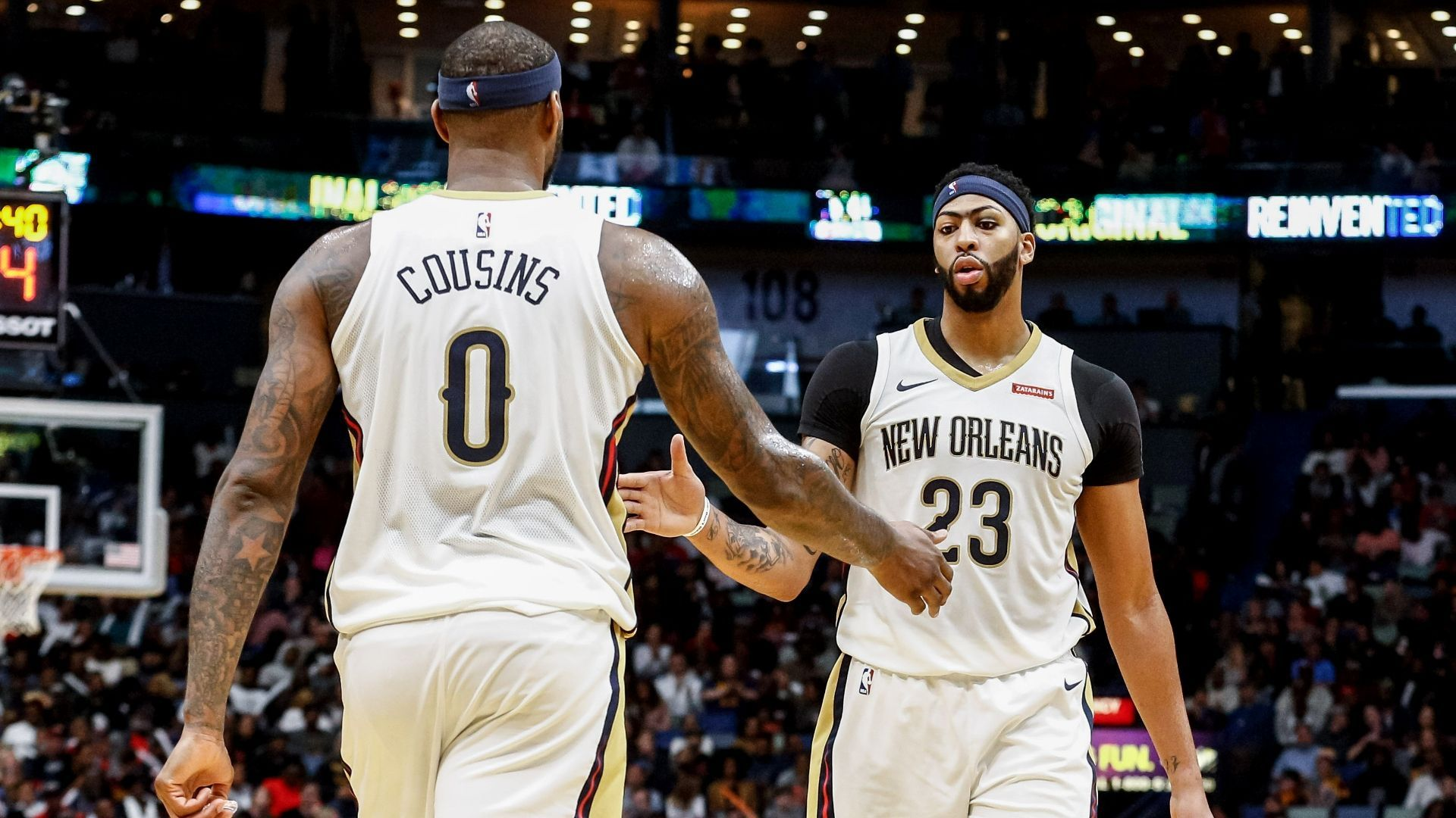 7898bd998 Anthony Davis leads New Orleans with 30 points while DeMarcus Cousins  contributes a triple-double in a 22-point rout of Cleveland.