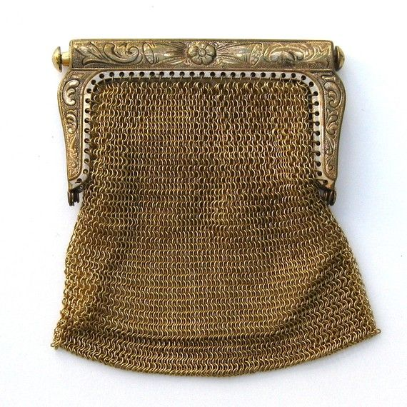 Vintage brass mesh coin purse by DoorNumberTwo on Etsy