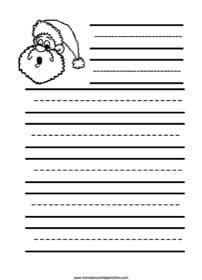 Santa Elementary Notebooking Page | Free homeschool ...