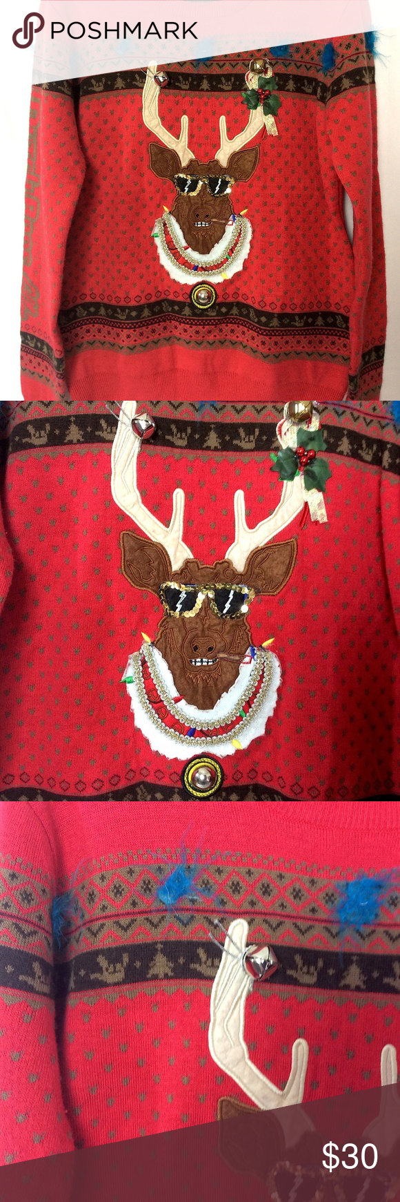 Custom Dutch Bros Ugly Christmas Sweater Customized Dutch Bros employee Christmas sweater Size: women's Large Warm and super comfy  Approximate measurements laying flat: pit to pit: 19