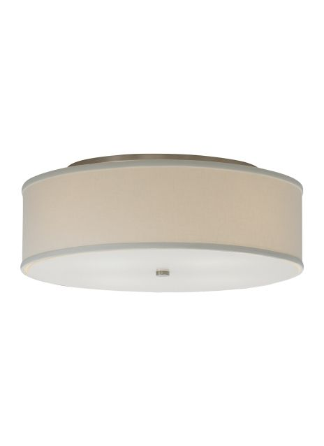 Square fabric flush mount glass diffuser provides a glare free wash square fabric flush mount glass diffuser provides a glare free wash of light highlighted with satin nickel detail aloadofball Image collections