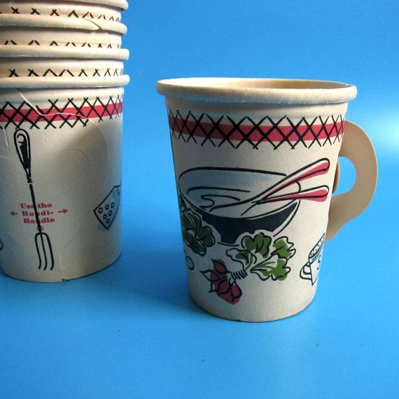 5 mid century Handi-Handle Sutherland Paper Co. cup by amccahon