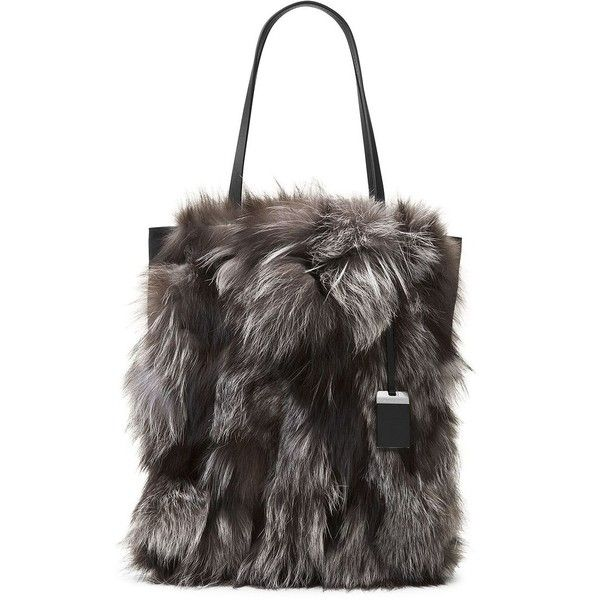 3195638c00f0 Michael Kors Collection Eleanor Fox Fur Tote (30.345 ARS) ❤ liked ...