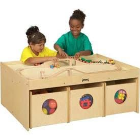 Jonti Craft Kydz Activity Table With 6 Bins Add Storage And A Sy Building To Your Child S Play Area The