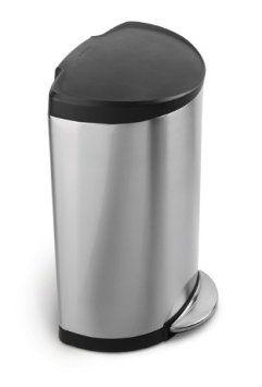 Kitchen Trash $85 Amazon.com   Simplehuman Semi Round Step Trash Can,  Brushed