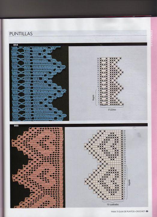 magnificos | Puntas y algo mas | Pinterest | Carpetas de tejido ...