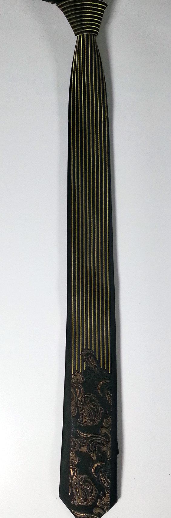 Tie Black Tie Men's Necktie Black Cravat PP144056 by PeraTime #handmadeatamazon #nazodesign