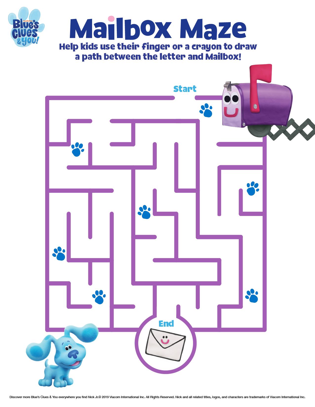 Blue S Clues Amp You Printable Maze