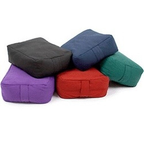 Purple Cotton Meditation Cushion Rectangular Pillow for Meditation