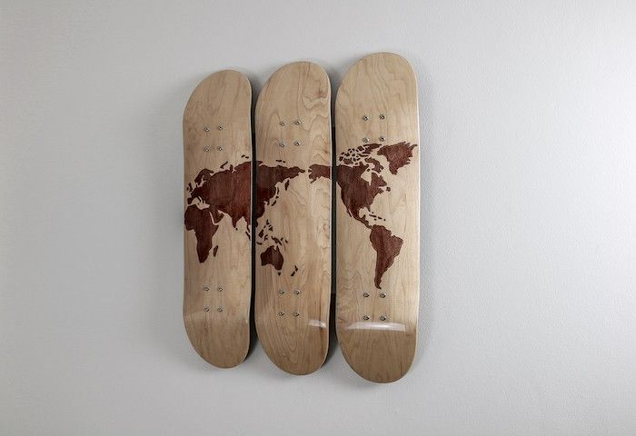 These World Skate Decks Make A Great Piece Of Wall Art Finished In A High Gloss Skate Decks Art Studio At Home Home Art