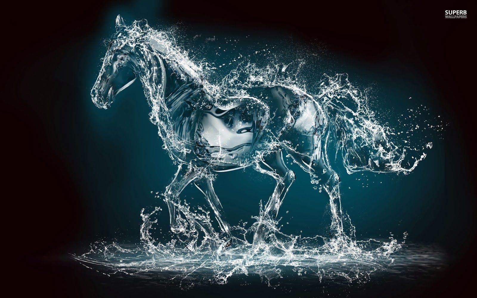 Water Horse Wallpaper Horse wallpaper, Water art, Art