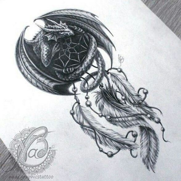 Tattoo Dreamcatcher Dragon Dragon Tattoo Designs