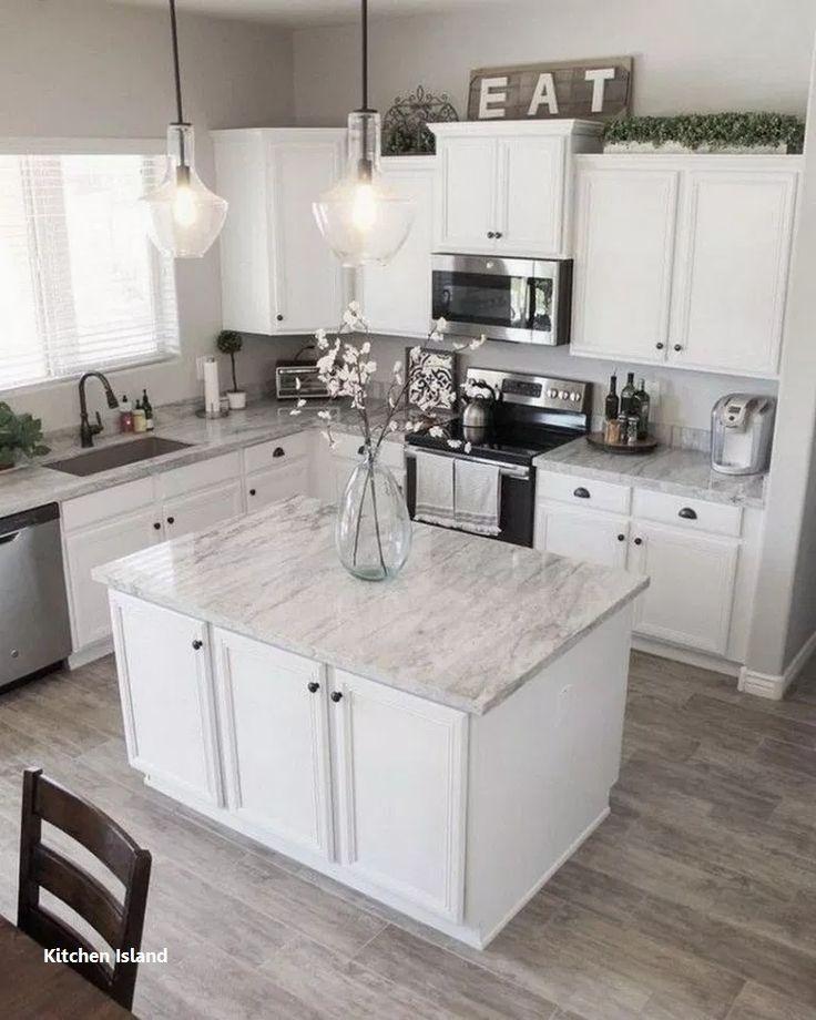 Kitchen Island Ideas Farmhouse In 2020 Kitchen Design Small White Kitchen Design Home Decor Kitchen