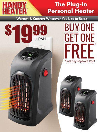 Handy Heater TV Offer   Fireplace heater, Diy home ...