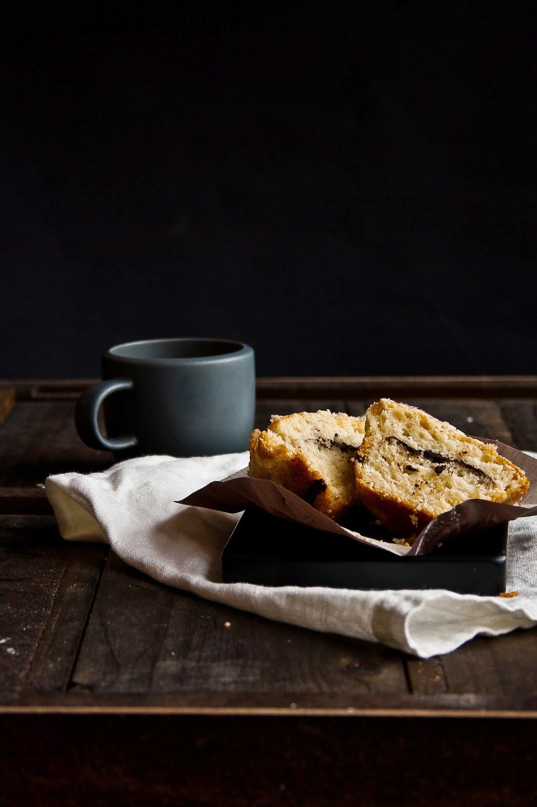 Coffee Cakes with Almond Streusel | Hint of Vanilla, April 2014