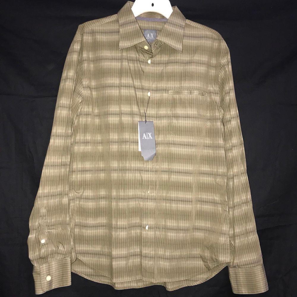 7b3d2506b9e Details about Mens ERMENEGILDO ZEGNA Tan Striped Long Sleeve Button ...