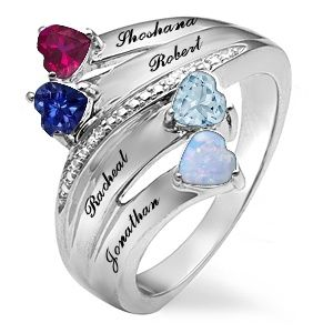 Color Stone Mothers Heart Ring Jared Idea of rings for mom