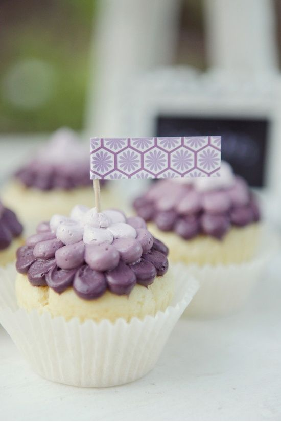 ombre cupcakes