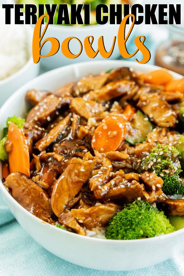 The best teriyaki chicken bowl recipe! So easy and delicious. #dinner #chicken #chickenrecipes #PerdueFarms #PerdueFarms_partner