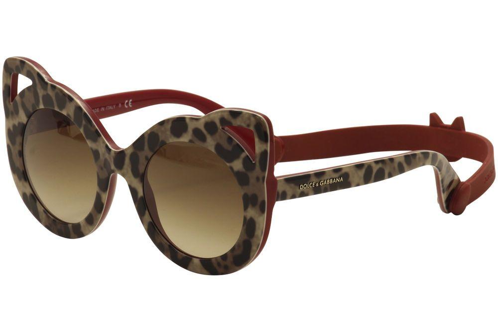 586f5d466fe4 Dolce   Gabbana Women s D G DG4289 4289 3070 13 Leopard Bordeaux Sunglasses  43mm